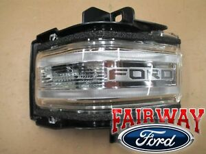 17 thru 19 Super Duty OEM Ford Mirror Signal Lamp Lens w/ Spot - LEFT DRIVER