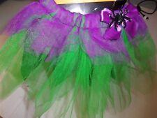 Green Purple Spider XS/S M/L  Tutu Dress Up Halloween Pet Dog Cat Costume Skirt
