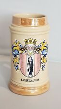 Kaiserslautern Ceramic Handled Beer Stien Pint With Fish/Castle Family Crest