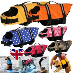 Dog Buoyancy Aid Life Jacket Swimming Boating Adjustable Safety Vest Preservers