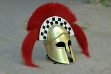 Medieval Knight Warrior Helmet Greek Corinthian Helmet With Plume Greeko Helmet
