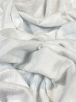 "White Jacquard Bubble Gauze Fabric 100% Cotton 52"" Wide Fabric By The Yard"