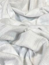 White Jacquard Bubble Gauze Fabric 100% Cotton 52