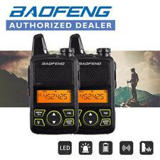 2x Mini Baofeng Walkie Talkie LED 400-470MHZ Wasserdicht FM Radio Empfänger New