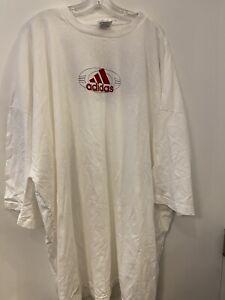 Adidas White Logo Short Sleeve T Shirt 6XL New W/ Defects