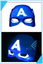 LED Light up Spiderman Iron Man Power Ranger Masquerade Mask Fancy Dress Blue a