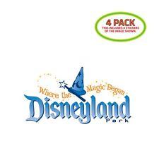 Disneyland Park Sticker Vinyl Decal 4 Pack