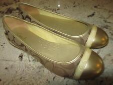 Women's Genuine Coach Cecile Gold Signature C Ballerina Ballet Flats Shoes 8