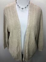 NWT Torrid 3 3X Soft Tan Lace Up Back Open Cardigan Kimono