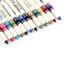 12 Color Eyebrow & Eyeliner & Lip Liner Pencil Waterproof 3-in-1 Makeup Cosmetic