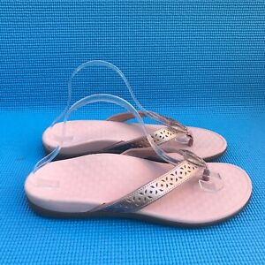 Vionic Tideperf Women's Size 11 Rose Gold Flip Flops Thong Open Toe Sandals