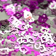 Pink Teenager Girl 13th Birthday Party Table Decorations Confetti Sprinkles