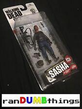 "The Walking Dead AMC Series 10 Walgreens Exclusive SASHA 5"" action figure NIH"