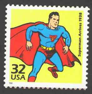 US. 3185f. 32c. Superman Arrives, 1938. Celebrate The Century. MNH. 1998