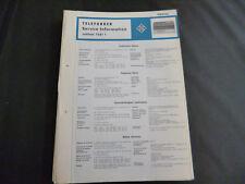 Original Service Manual  Telefunken Jubilate 7581T