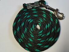Nylon Poly Miniature Horse Pony goat sheep dog Lead Rope Usa Made black w/green