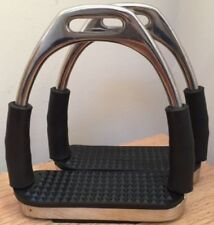 Brand New Stirrups Iron Steel Flexi Safety Bendy Horse Riding Equestrian.1