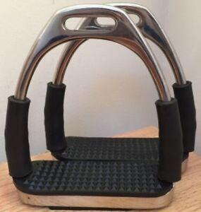 Brand New Stirrups Iron Steel Flexi Safety Bendy Horse Riding Equestrian.1