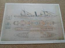 Print Wall Hanging Grand Duke Constantine+Alexis Russian Steam Navigation 1890
