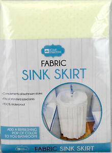 Fabric Sink Skirt Bathroom Decor 100% Waterproof Self Stick Beige