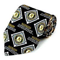 Oakland Athletics Men's Silk Neck Tie Officially Licensed MLB Baseball Necktie