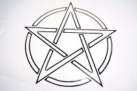 Bumper car Vinyl Sticker Motorbike decal window Bike vehicle pentagram pentacle,
