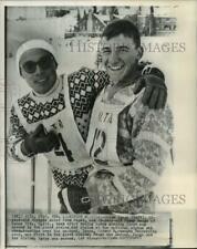1960 Press Photo Chick Igaya & Jimmy Heuga, Alpine ski championships, Alta, Utah