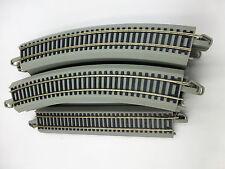 HO Scale Model Train Layout Bachmann EZ Track Steel ~ Lot of 16 pieces ~Gray