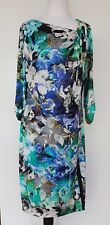 PER UNA (Marks & Spencer) SIze 14 Blue/Green Floral Dress