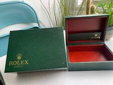 ROLEX VINTAGE GREEN LEATHER BOX