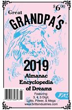 2019 Grandpa's Almanac - Lottery Book - Dream Book - Numerology Book - Lottery