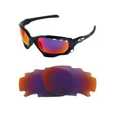 NEW POLARIZED VENTED LIGHT +RED CUSTOM LENS FOR OAKLEY JAWBONE RACING JACKET
