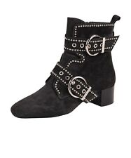 Jeffrey Campbell CYGNET Dk Grey Suede w/Silver Studs Bootie, Sold Out, Sz 6.5M