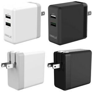 Dual USB 4.8A 2 Port Foldable Wall Charger Fast Charging for iPhone Samsung iPad
