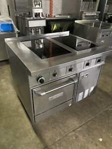 Electric garland 4 burner induction stove with gas oven