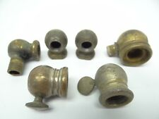 Mixed Antique Lot Old Metal Brass Gas Lamp Parts Joint Hardware Arm Pieces