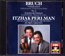 Itzhak PERLMAN: BRUCH Violin Concerto No.2 Scottish Fantasy ZUBIN MEHTA CD EMI
