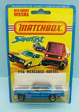 CH15/041 MATCHBOX / SUPERFAST / BLISTER EXPORT / 56 MERCEDES BENZ 450 SEL BLEU