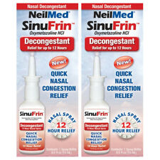 2 Pack - NeilMed SinuFrin Nasal Decongestant Spray 15mL (0.5fl oz) Each