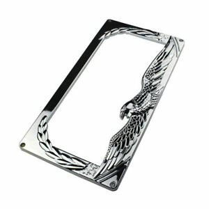 PAIR Plastic Eagle Wing Style License Plate Frame Chrome Holder Tag Universal