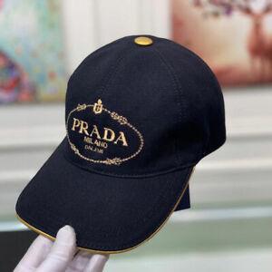 Men's Women's Vintage Prada Baseball Hat Cap Black Medium With box