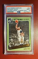 2015-16 NBA 🏀 SERIAL NUMBERED DONRUSS SCORING KINGS ANTHONY DAVIS PSA 9 CARD 💥