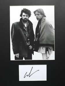 "GEORGE LUCAS  AUTOGRAPH SIGNED CARD ( 10""X8"" PHOTO) *STAR WARS * COA 55"