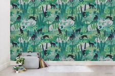 3D Panther Leaves Pattern Wallpaper Wall Mural Removable Self-adhesive Sticker