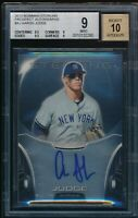 BGS 9 w/9.5 AUTO 10 AARON JUDGE 2013 Bowman Sterling Prospect (.5 from GEM) MINT