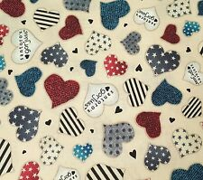 Simply Gorjuss by Santoro for Quilting Treasures BTY Hearts on Light Beige