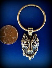 WOLF Head KEYCHAIN Jewelry - Vintage Retro Art Deco Style - Canine Wolf theme