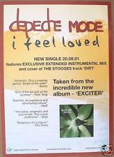 """Depeche Mode """"I Feel Loved"""" Australian Promo Poster"""