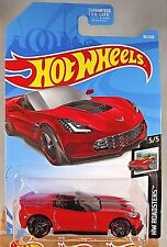 2019 Hot Wheels #95 HW Roadsters 5/5 CORVETTE C7 Z06 Convertible Red w/Blk Pr5Sp