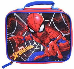 Marvel Spider-Man Web Slinger Pose Insulated Lunch Bag, Blue/Red